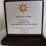 Plaque from Sunlove Home